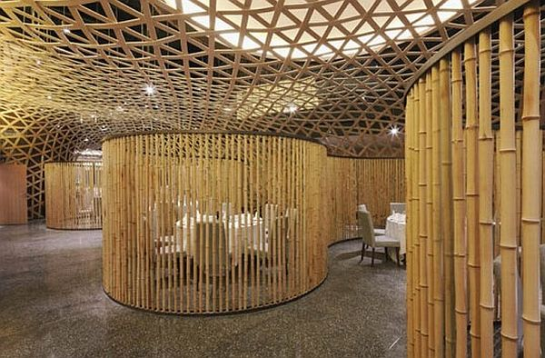 living room and dining divider design philippines styles eco friendly bamboo skin makes tang palace restaurant look ...