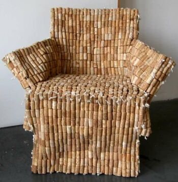 Chair from recycled wine corks  Ecofriend