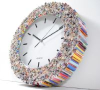 Designers turn old magazines into a trendy wall clock ...