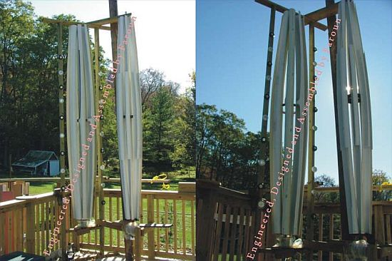Eco DIYs Vertical Axis Wind Turbine Made From PVC Pipes