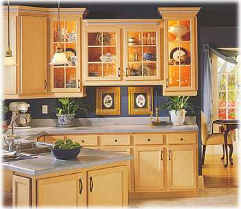 kitchen wood cabinets island chairs with backs going green by installing wooden ecofriend natural compliment any style