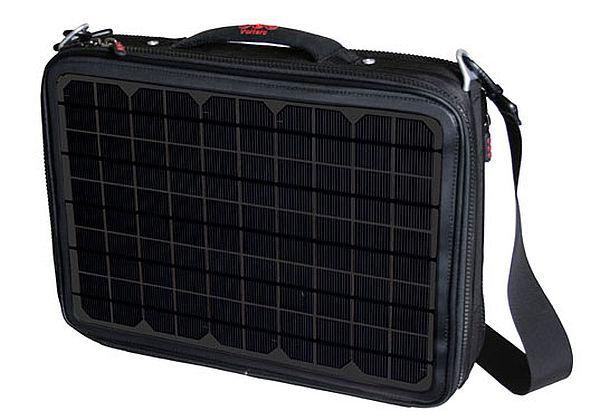 Solar powered laptop bag
