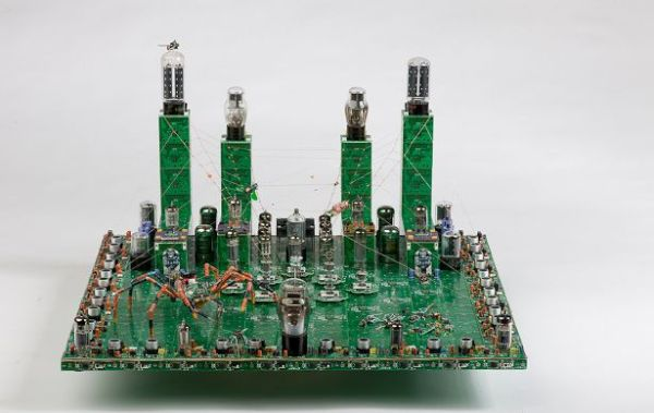 Circuit board spider city