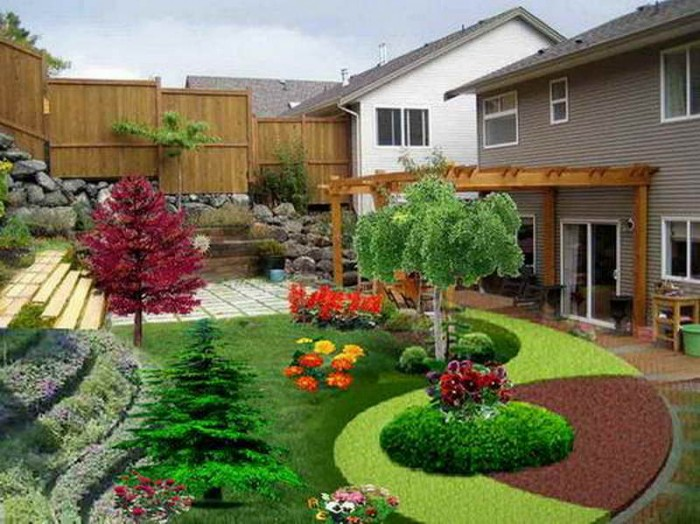 Beautiful-Backyards-Pictures-with-wooden-fence
