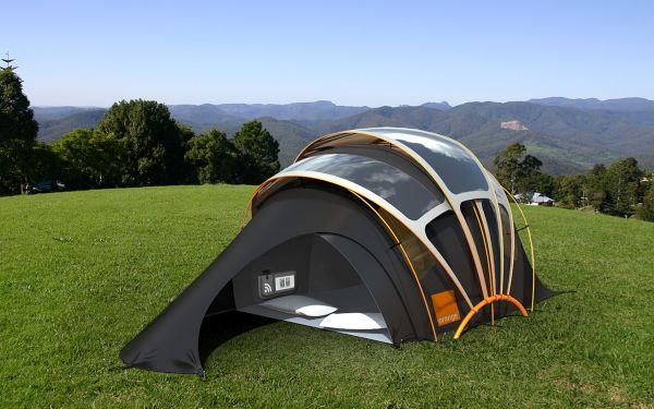 Orange, Solar tent