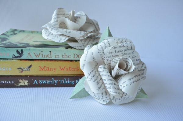Paper Book Page flowers