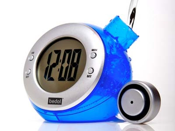 Water based table clock