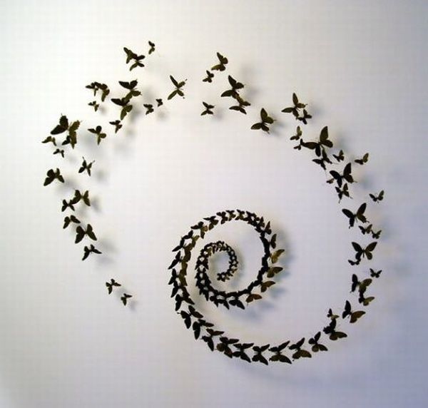 Butterfly Spiral Wall Décor using Soda Cans