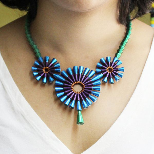 Jewelry using Recycled Paper