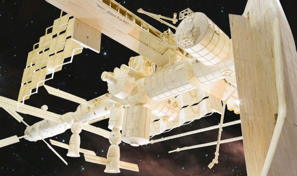 Matchstick International Space Station