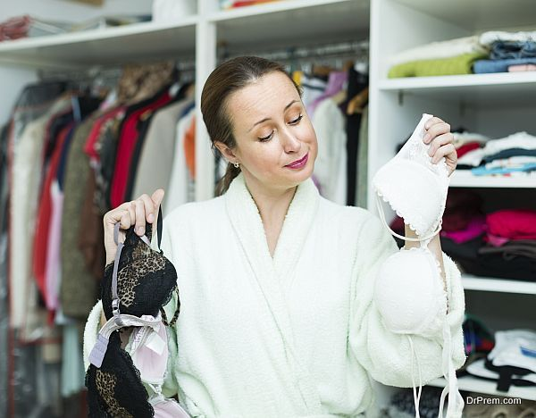 Housewife choosing underwear