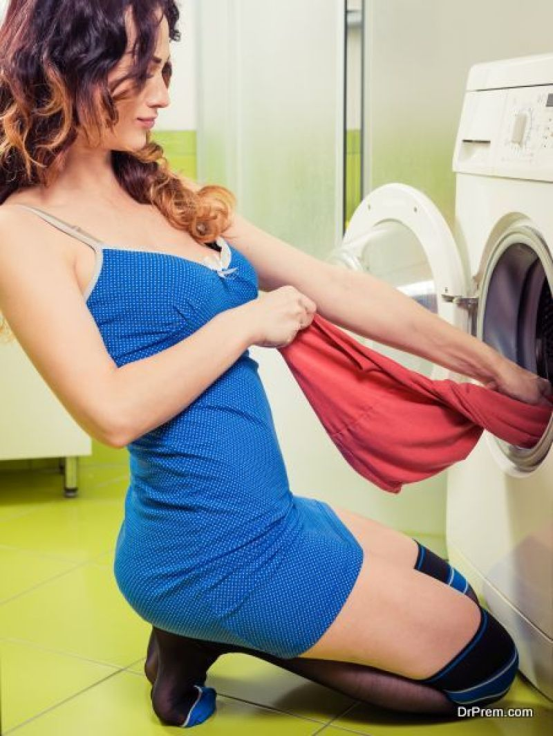 Front-stack clothes washers
