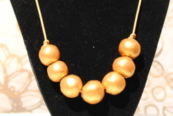 Eco Friendly clay bead necklaces