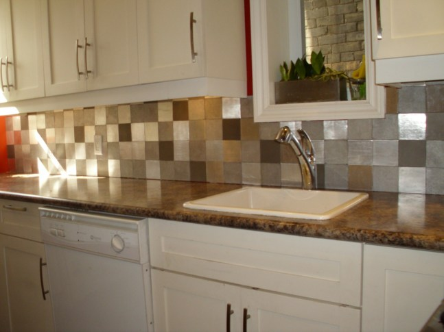 4 x 4 mixed finishes aluminum no grout