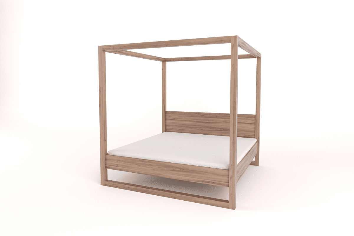 Wooden King Size 4 Poster Bed With Headboard