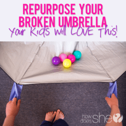 Broken umbrella kids parachute • Reusing Umbrellas | ecogreenlove