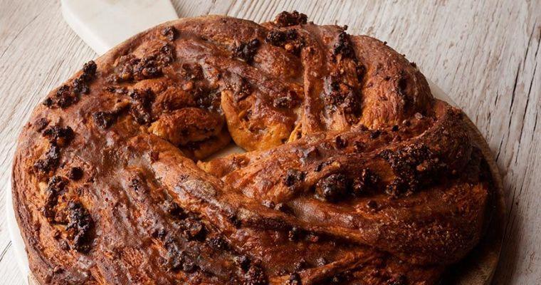 Corona de pan dulce semiintegral