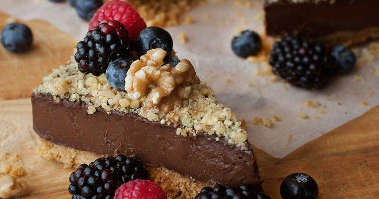 Tarta de chocolate y nuez