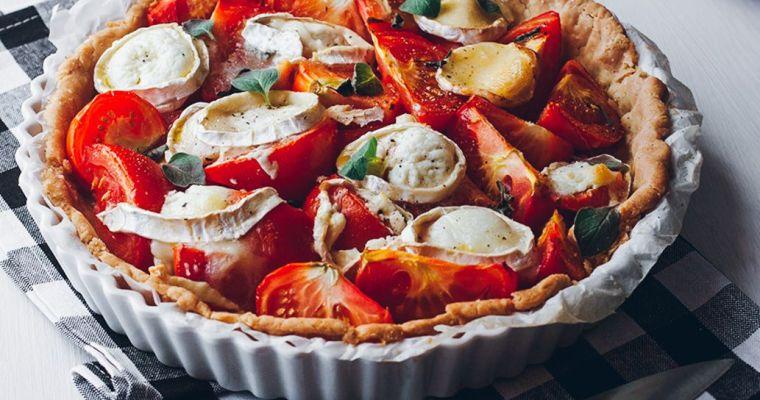 Tarta de tomates y queso de cabra