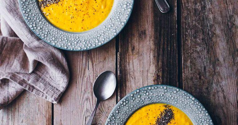 Crema de puerro y zanahoria