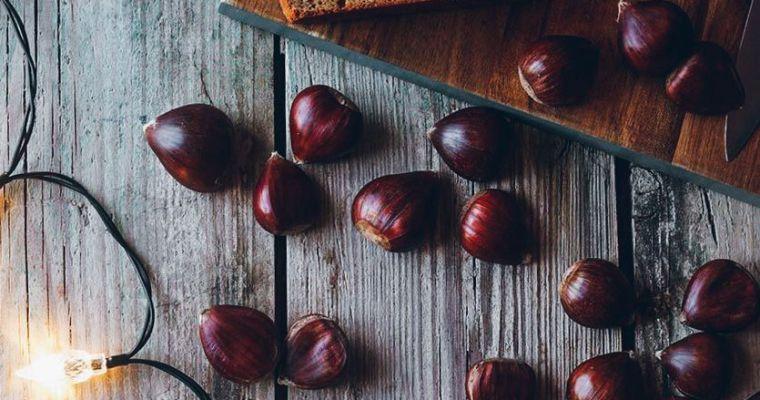 Bizcocho de castañas y chocolate
