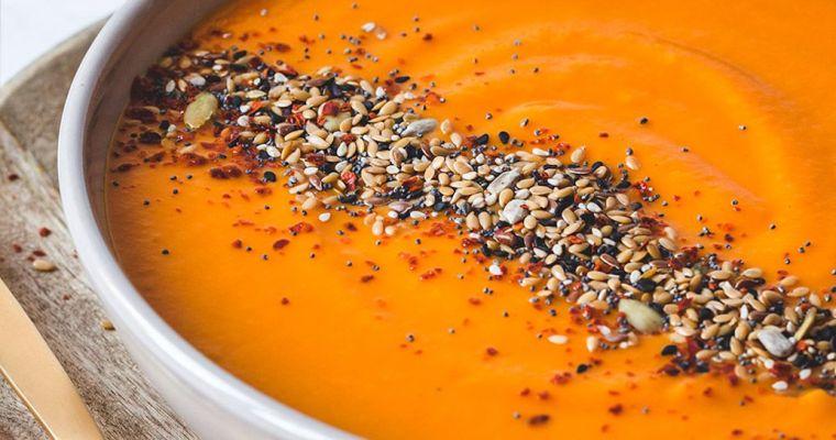 Crema de calabaza, zanahoria y naranja