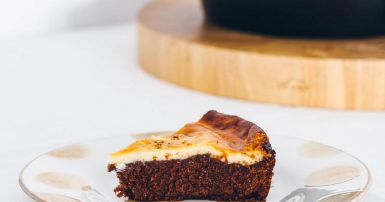 La mejor receta de brownie cheesecake