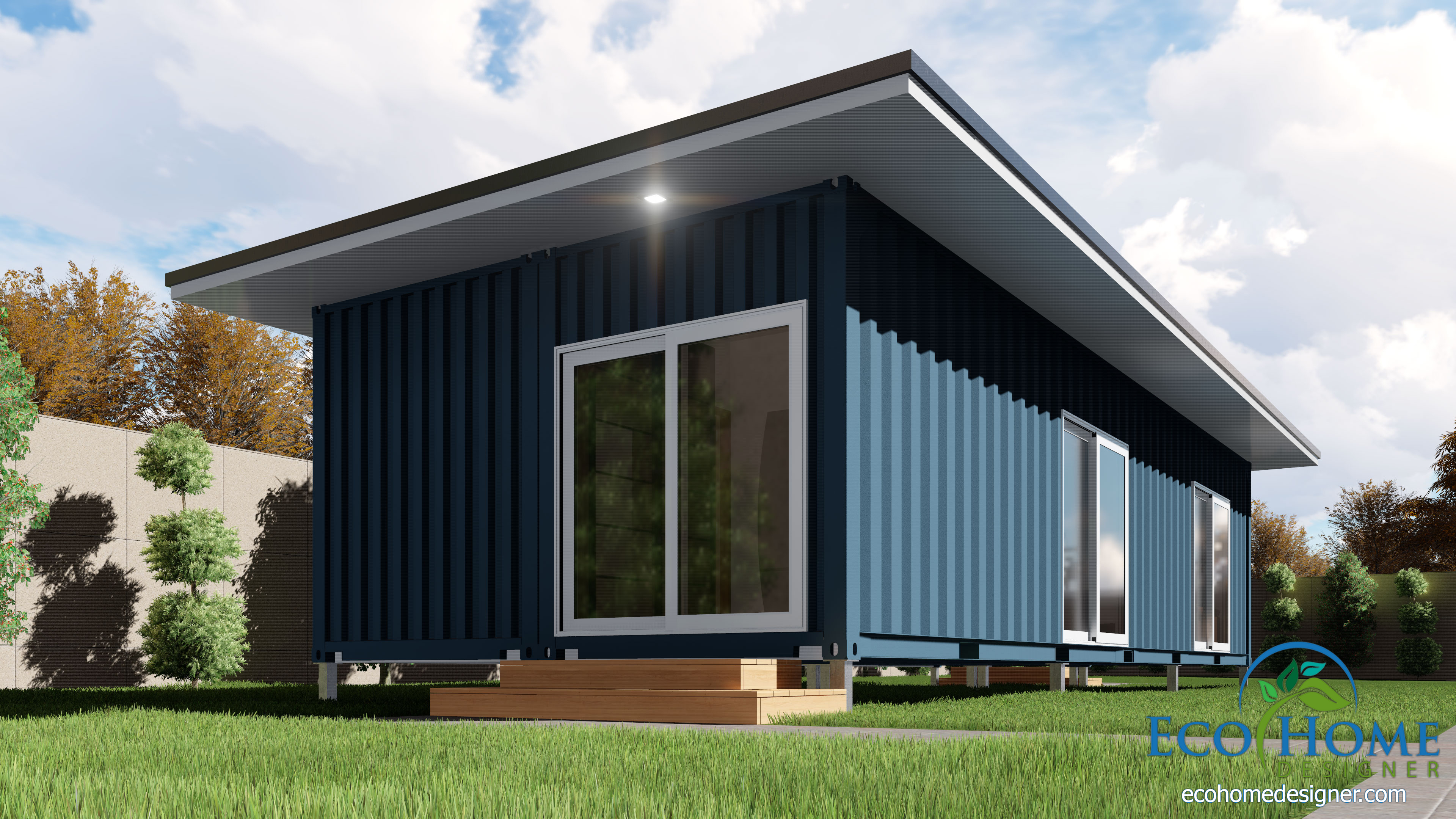 Single Shipping Container Home Plans & 40 Foot Container Homes - Vtwctr