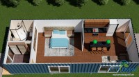 SCH2 2 x 40ft Single Bedroom Container Home | Eco Home ...