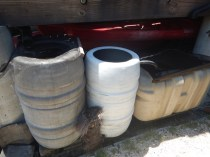 rainwater harvesting - daisy chain of containers