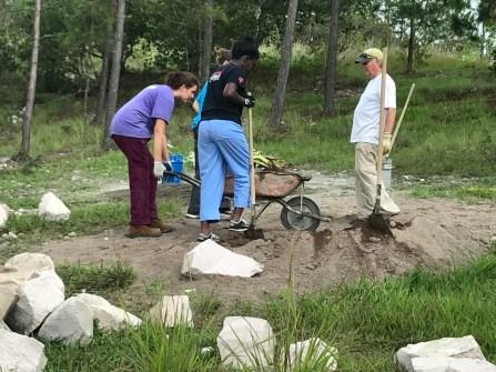 Here's the 2nd wheelbarrow of sand