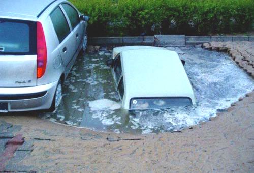 Parcheggio sotterraneo preoccupante