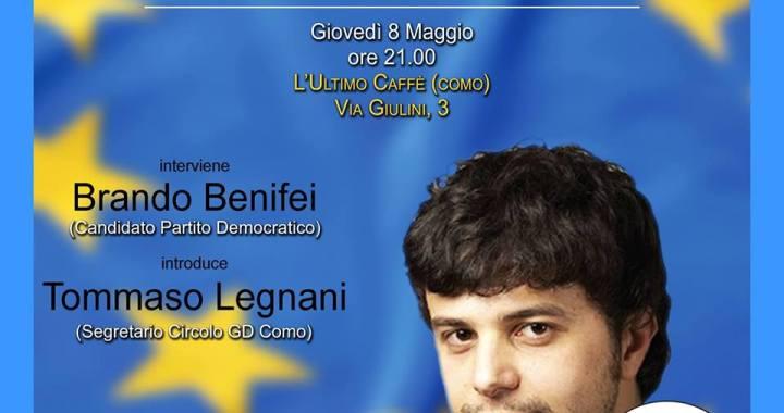 Europee/ Pd/ Brando Benifei a Como