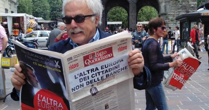 Press mob e pedibus/ L'altra Europa a Como