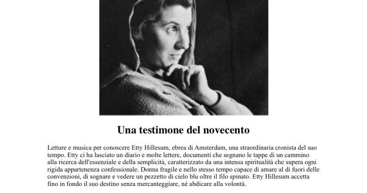 31 gennaio/ Etty Hillesum