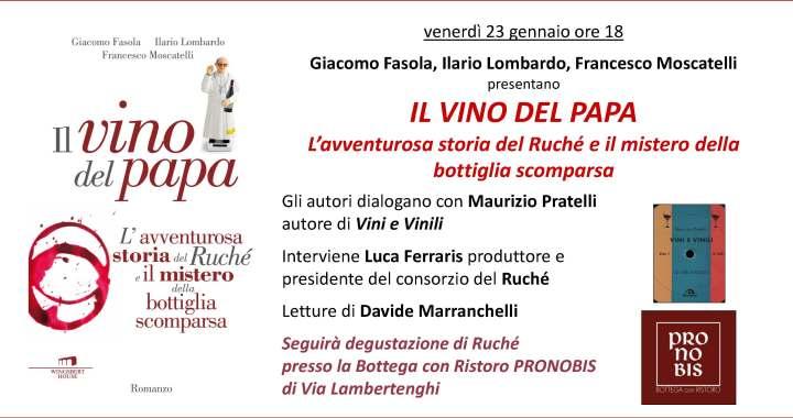 23 gennaio/ Il vino del papa