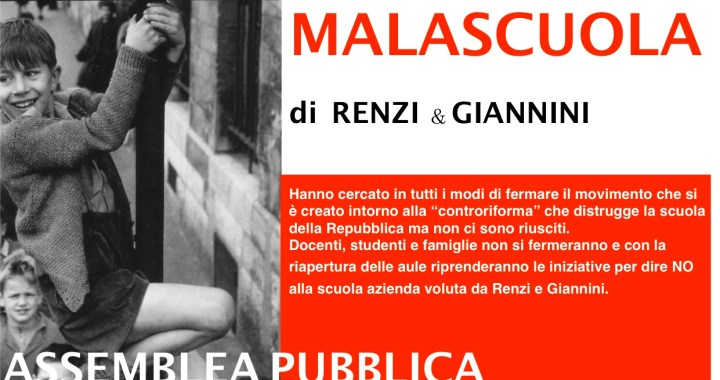 29 settembre/ Fermiamo la malascuola Di Renzi e Giannini