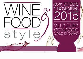 30 ottobre-1 novembre/ Wine & Food Style