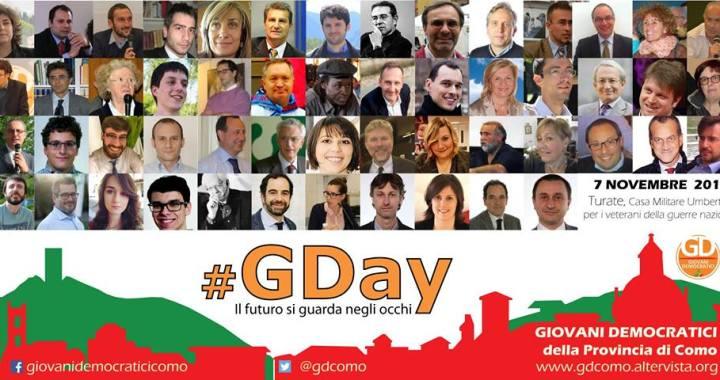 7 novembre/ #GDay il futuro si guarda negli occhi