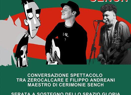 21 ottobre/ Zerocalcare, Filippo Andreani e Sench per il Gloria