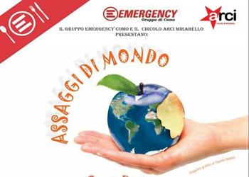 4 marzo/ Assaggi di mondo per Emergency all'Arci Mirabello