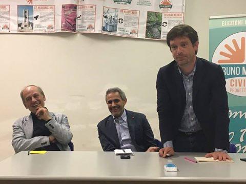 Pippo Civati  con Bruno Magatti