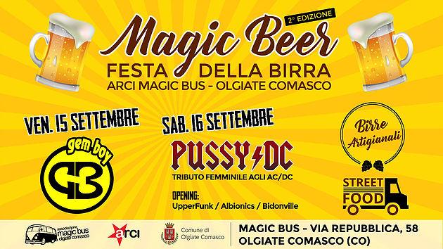 ANNULLATO /15 e 16 settembre/ Arci Magic Bus e comune di Olgiate Comasco/ Magic Beer