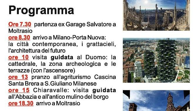 1 ottobre/ Gita a Milano e Chiaravalle
