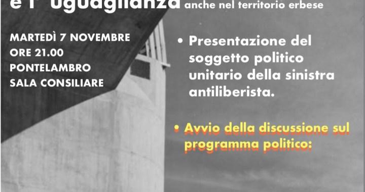 7 novembre/ L'Alleanza a Ponte Lambro per il lavoro
