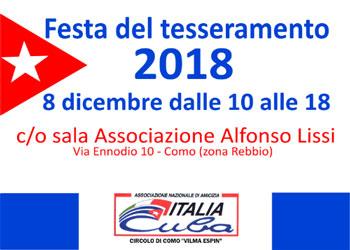 8 dicembre/ Apre il nuovo tesseramento di Italia Cuba