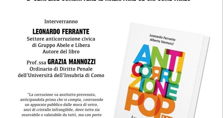 """14 maggio/ Leonardo Ferrante presenta """"Anticorruzione pop"""""""