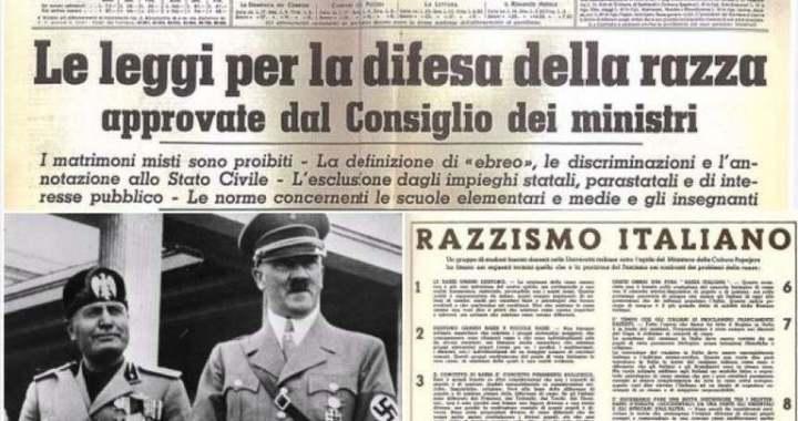 14 novembre: le leggi razziali,  del 1938. Il contesto, il consenso, la deumanizzazione