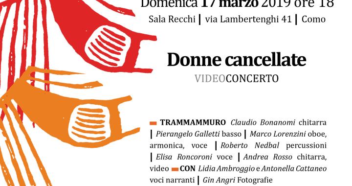 17 marzo/ Donne cancellate/ Videoconcerto Trammammuro