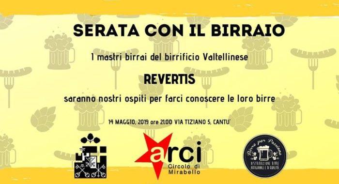 14 maggio/ Serata con il birraio/ Arci Mirabello